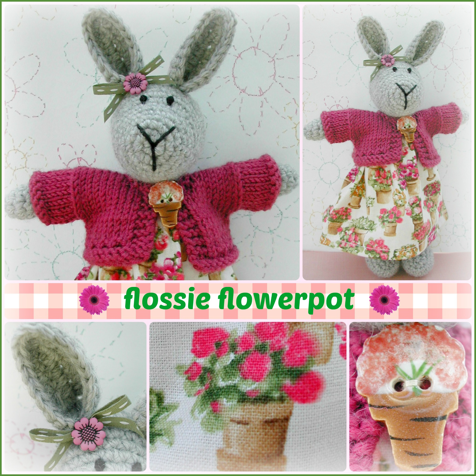 Flossie Flowerpot Collage