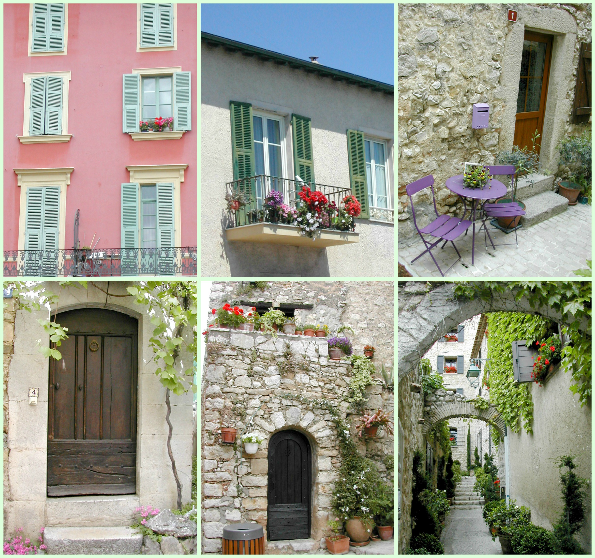 french buildings Collage