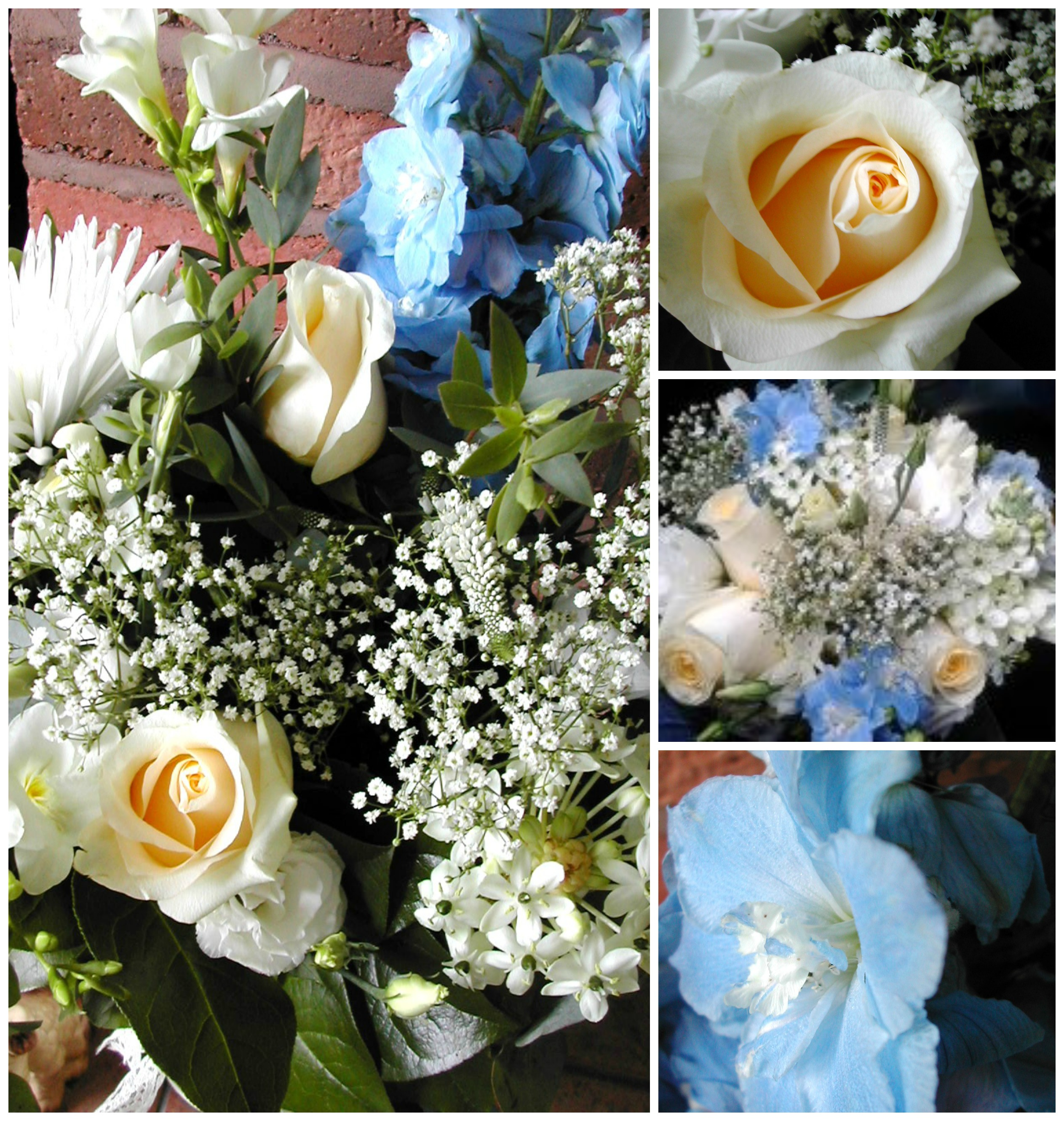 wedding flowers Collage