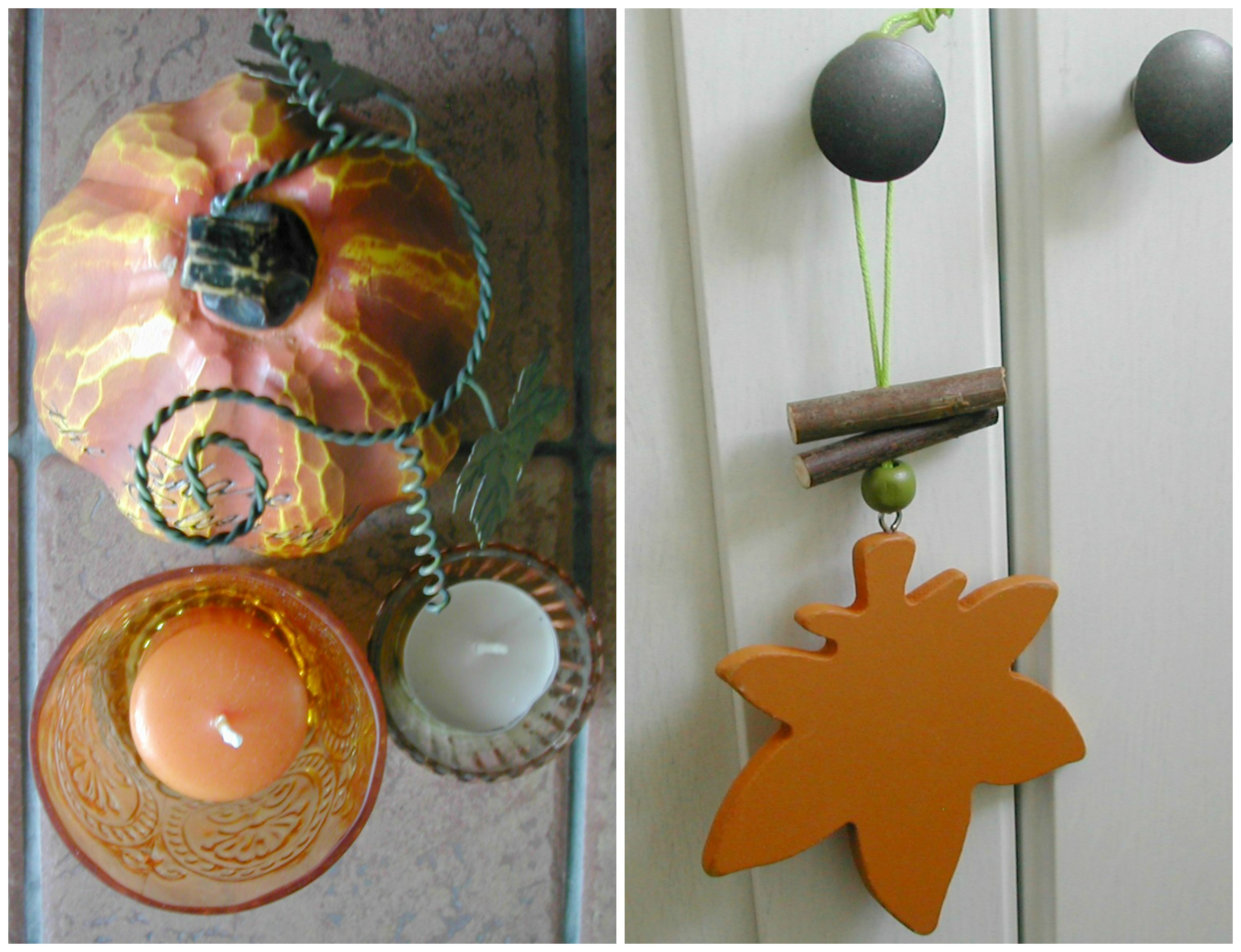 Autumn candle Collage