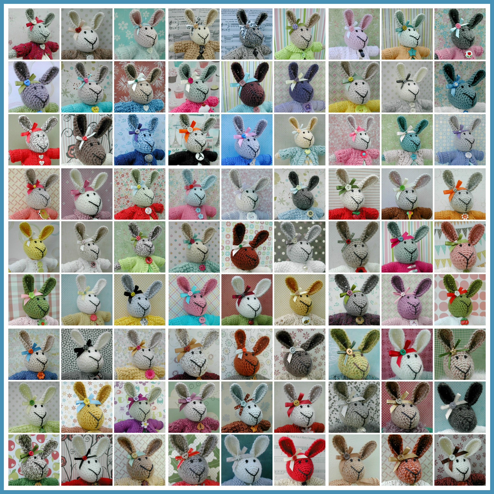 2014 bunnies Collage