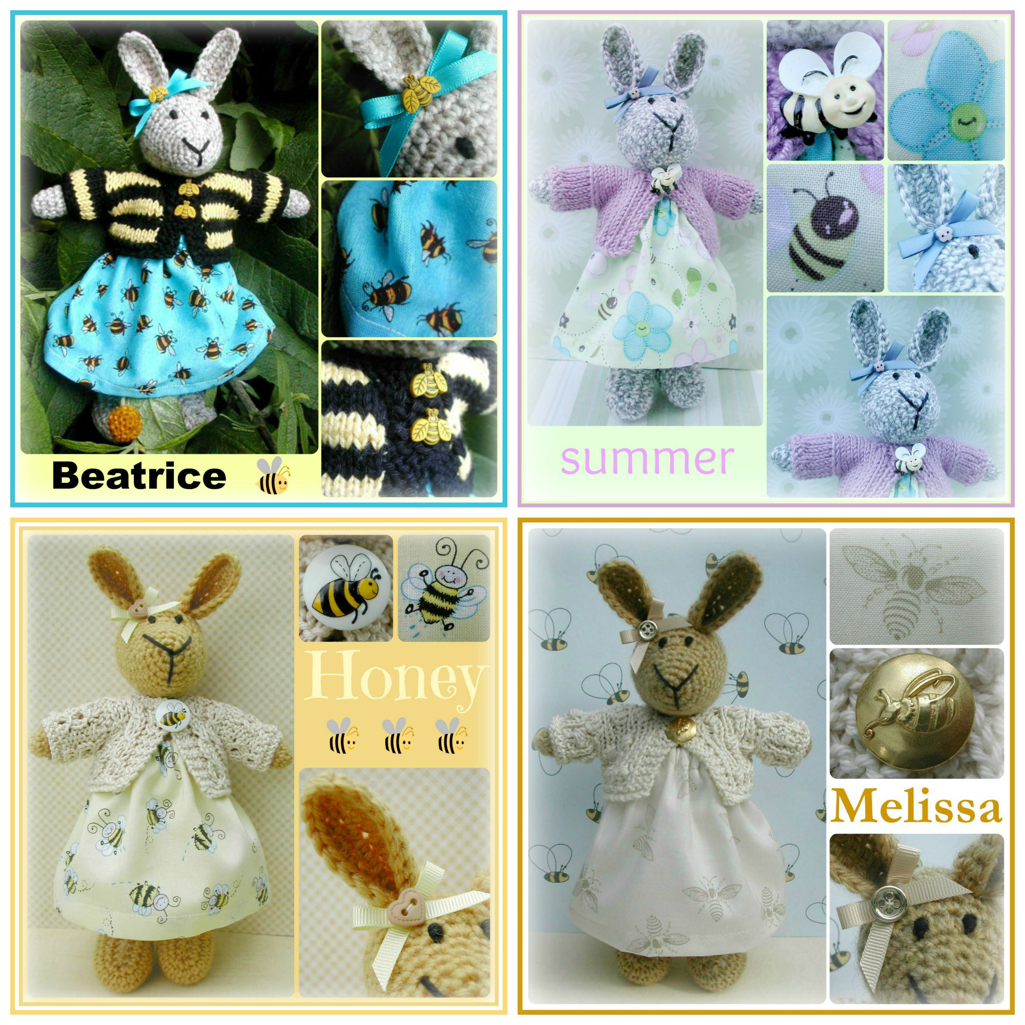 bee bunny Collage