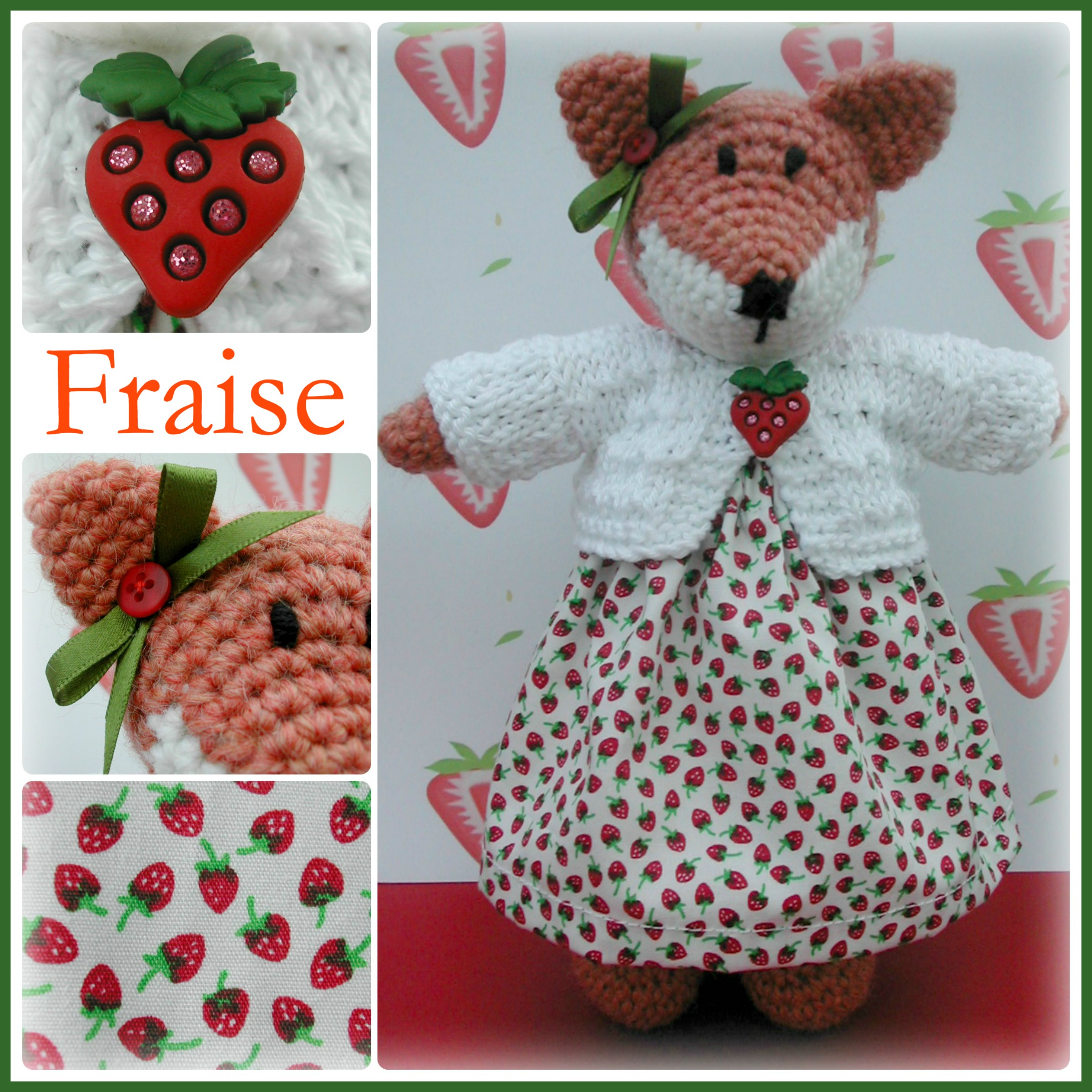 Fraise Collage